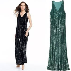 Calypso St Barth Paola Green Sequin Dress Gown